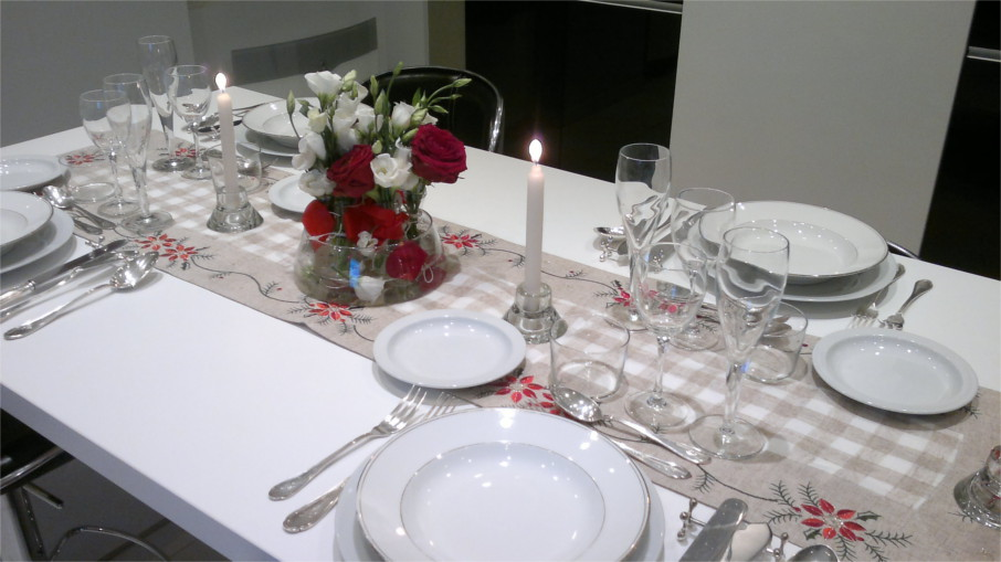 Deco table de noel gris et blanc - Deco table de noel blanc ...