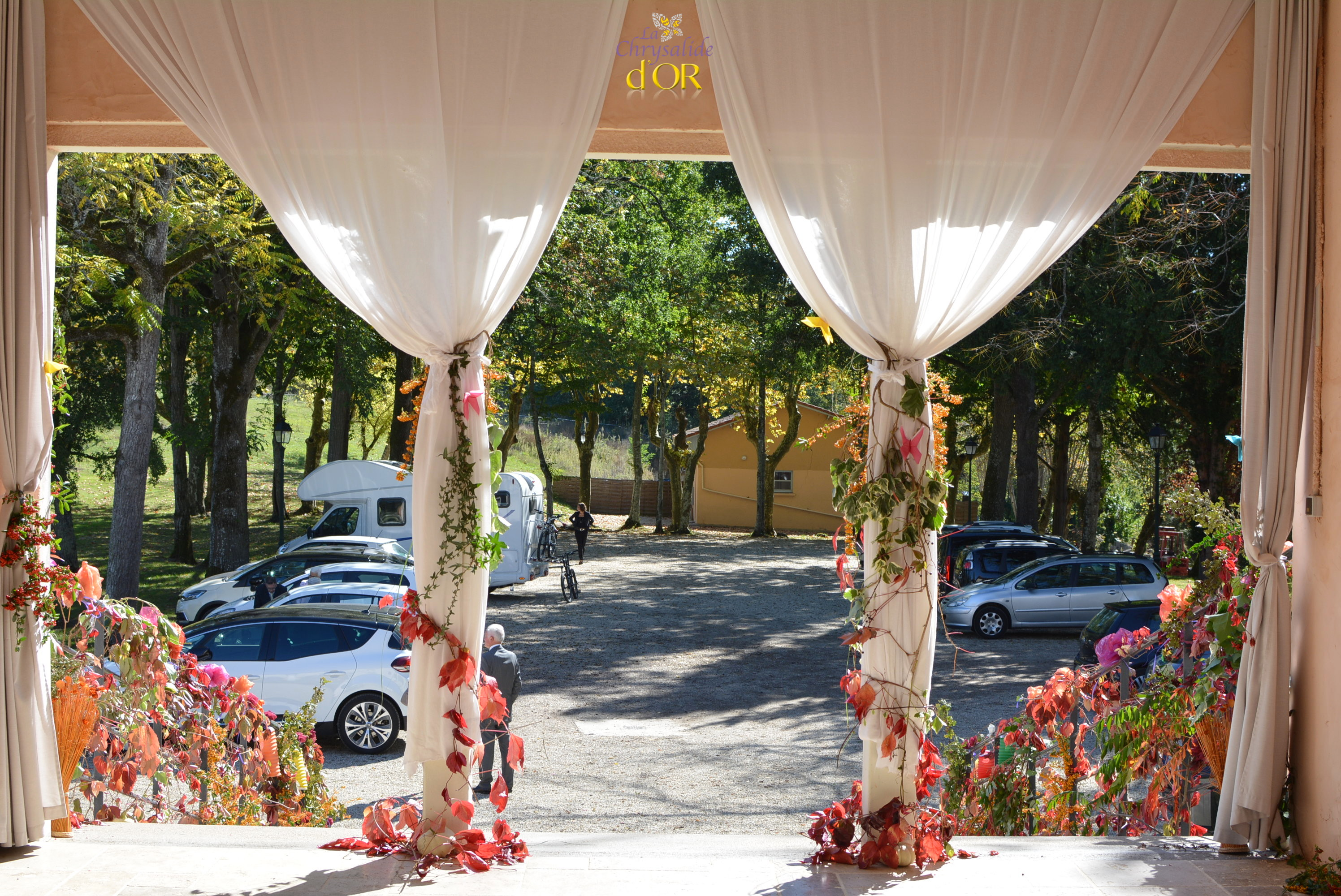 Composition Florale Centre De Table Automne destination wedding ssouth of france
