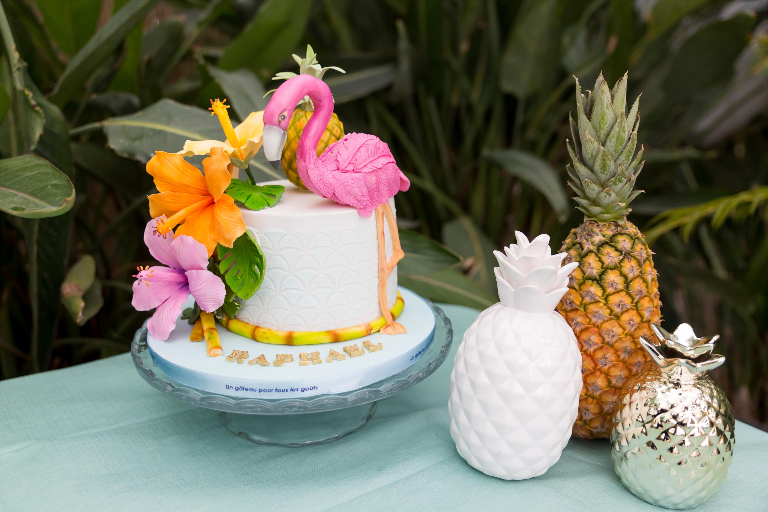 Gâteau tropical party